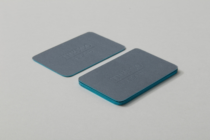 Business cards for Tresco Island, designed by Nixon Design.