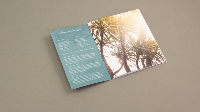 A marketing booklet for Tresco Island spa.