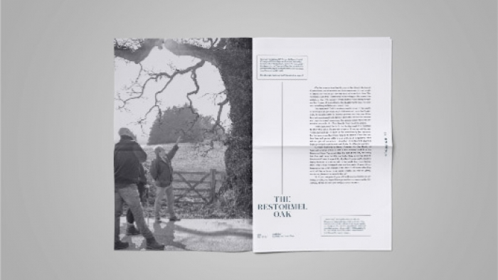 Inside Houmout, a publication designed by Nixon for the Duchy of Cornwall Nursery