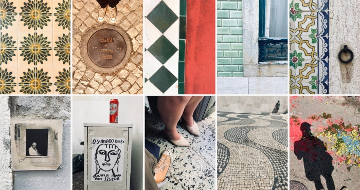 Coloured tiles in Portugal