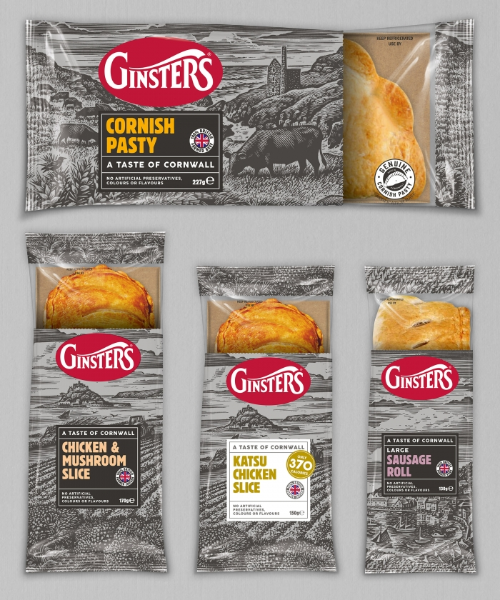 Ginsters product packaging