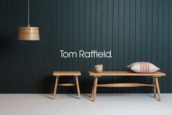 Tom Raffield logo and lighting