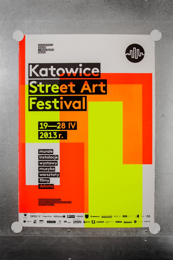 Marta Gawin's screen-printed design for Katowice Street Art Festival
