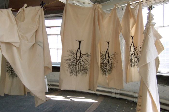 UCH's Spring Shrouds – screen-printed canvas shrouds made by artist Jai Redman