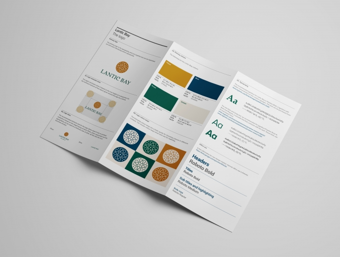 Visual identity created for Lantic Bay Holidays by Nixon Design