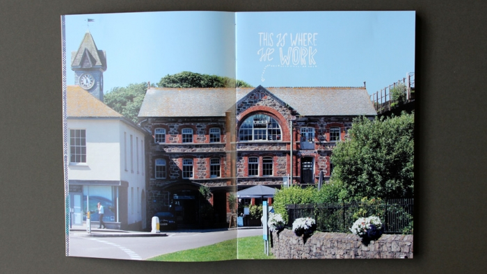 A double spread of White's Warehouse.