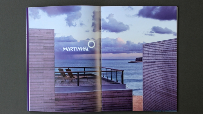 A double spread on Martinhal, a hotel by the beach in Portugal.