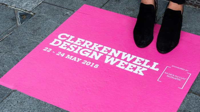 Sign for Clerkenwell Design Week