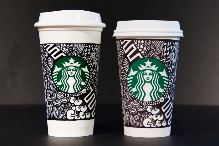 Starbucks white cup contest designs