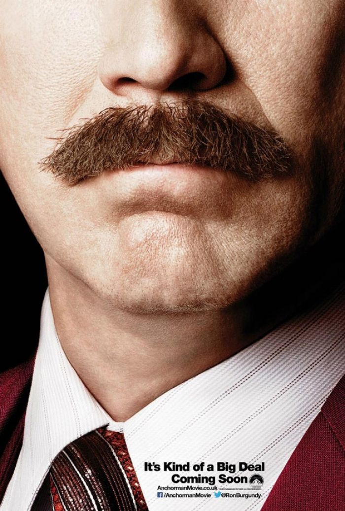 A close up of a man's big moustache.
