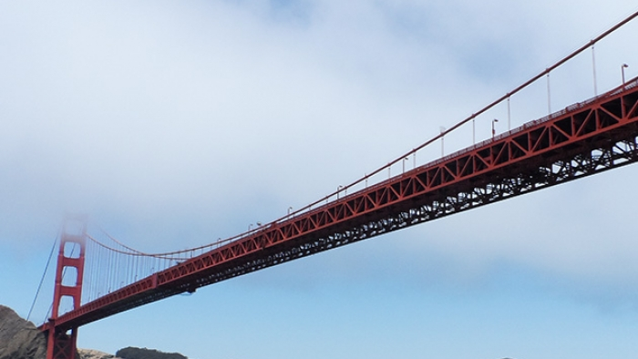 The Golden Gate Bridge in San Fran.