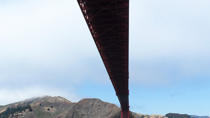 The Golden Gate Bridge in San Fransisco.