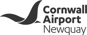 The Cornwall Airport Newquay logo, design by Nixon Design.