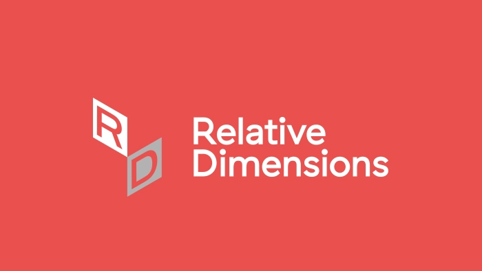 The Relative Dimensions logo (the letters R and D angled at different perspectives) and wordmark.