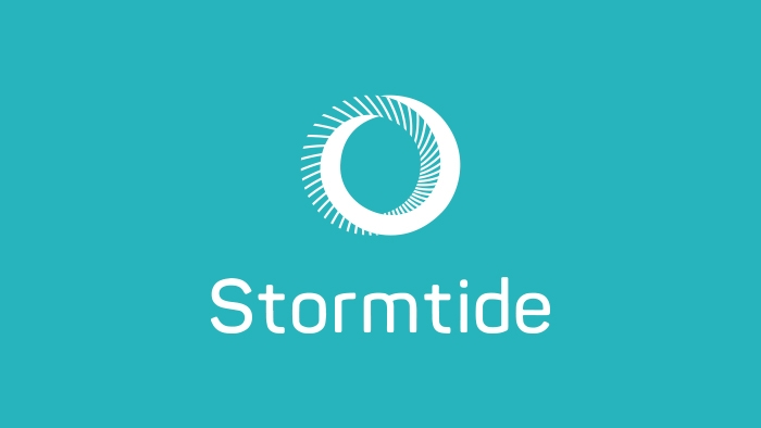 The Stormtide logo (an O-like symbol) and wordmark.