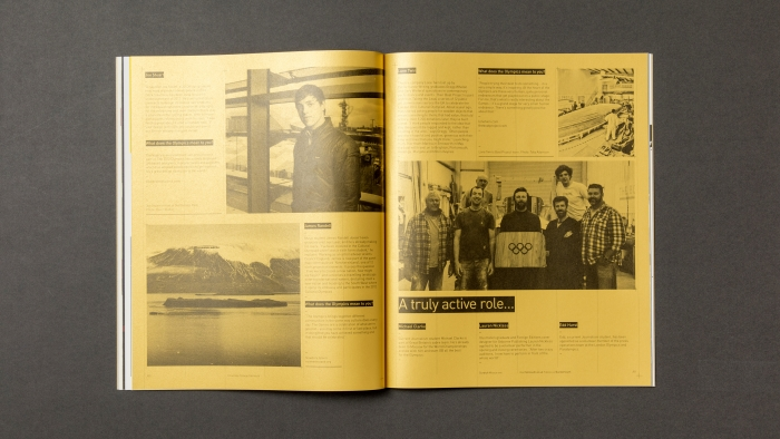 A double-page spread from Falmouth University's Scratch magazine.