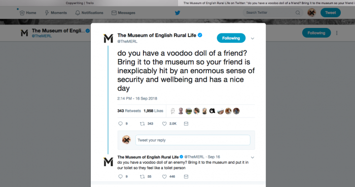 The Museum of English Rural Life Twitter.