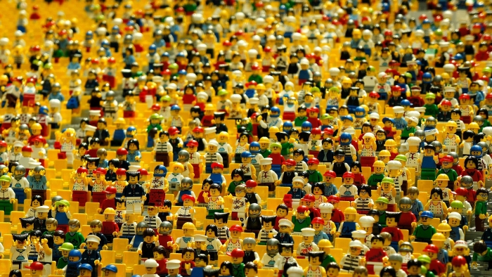 Lego dolls in an amphitheatre