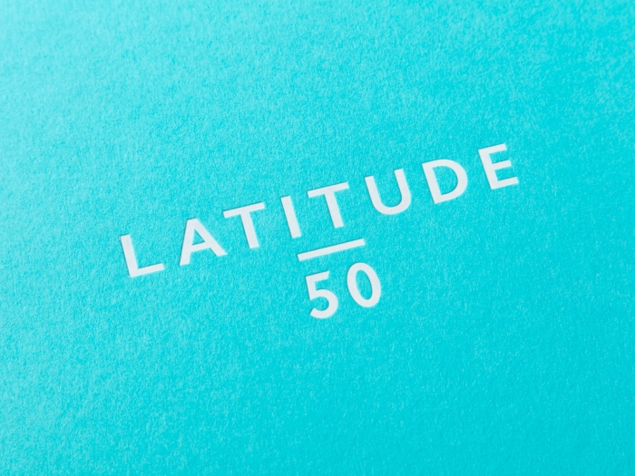 The Latitude50 logo on a printed document.