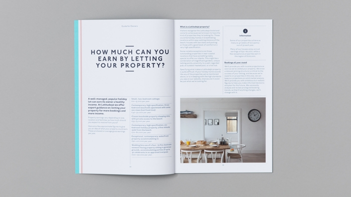 A double spread from inside the Latitude50 owners' guide.