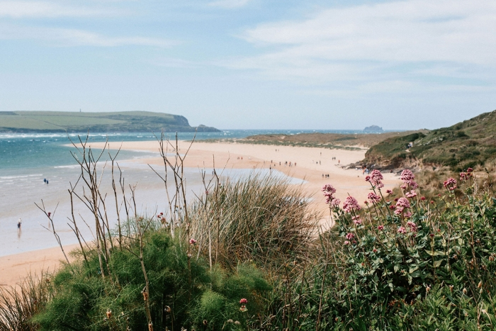 Beaches along the Camel Estuary.