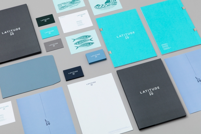 A full range of stationery for Latitude50 made by Nixon Design.