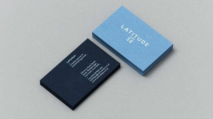 Latitude50 business cards.
