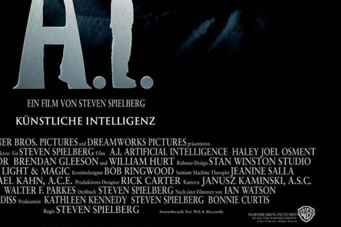 The poster for A.I. Artificial Intelligence, part of the ARG titled The Beast