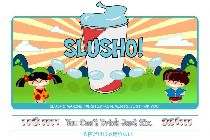 A Slusho! advert from the ARG associated with the film Cloverfield
