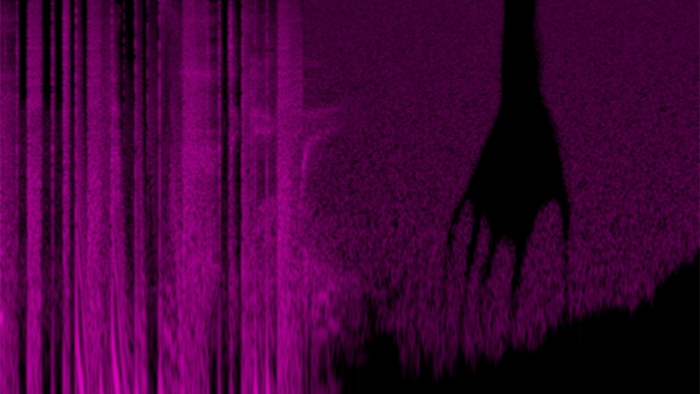 A spectrogram of 'My Violent Heart', a song by Nine Inch Nails