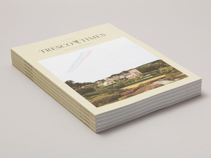 Tresco Times 2017, a printed yearbook for Tresco Island by Nixon Design.