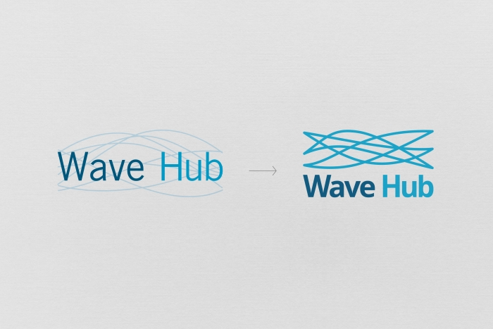 The old and new Wave Hub logos.