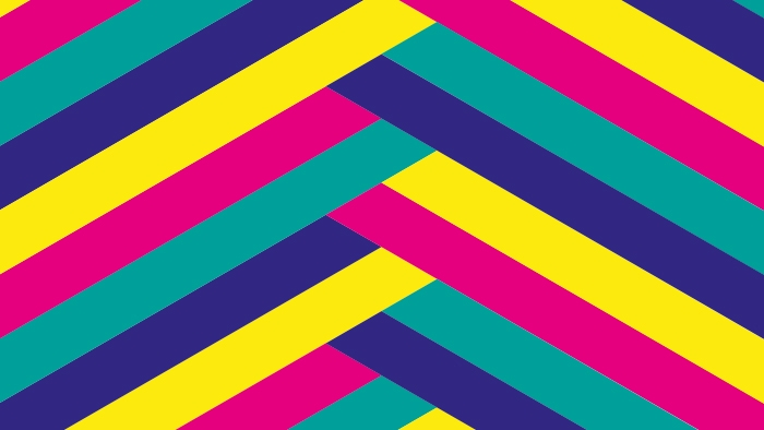A geometric pattern for the Romford brand.