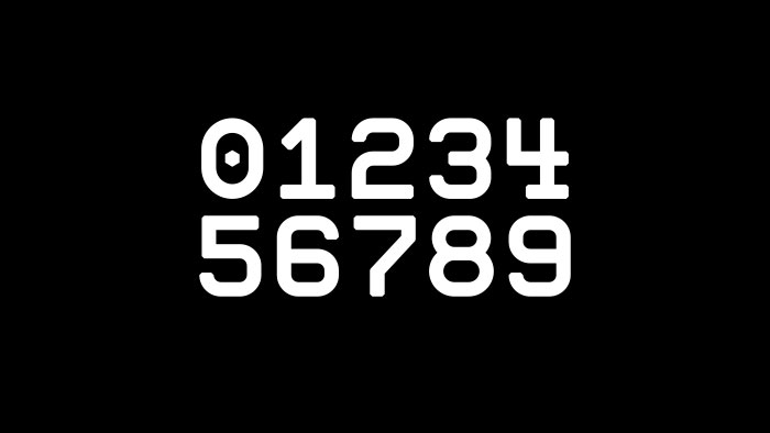 0123456789 in the Romford typeface.