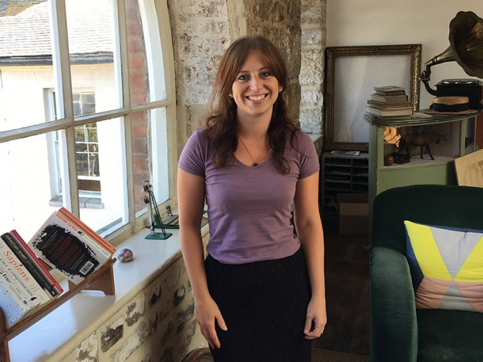 Project manager Laura Ward at Nixon Design, Cornwall