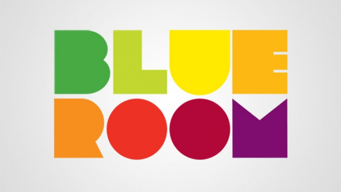 The word mark for Blue Room.