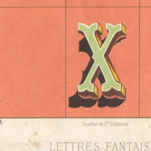An illustrated letter X.