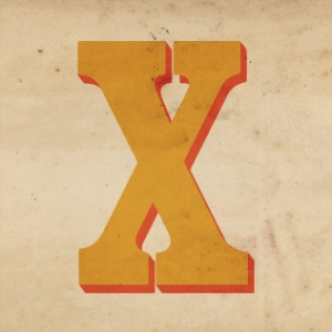 A painted letter X.