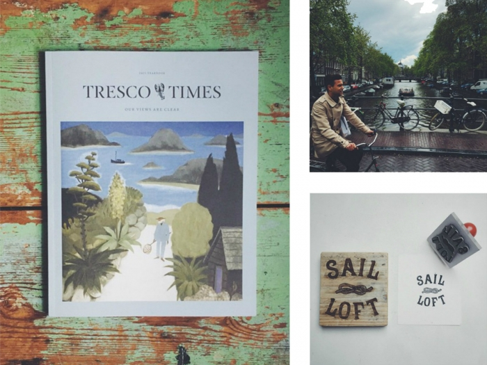 Grid of images including Tresco Times by Nixon Design.