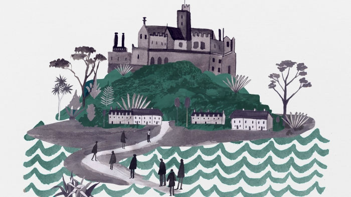 An illustration of St Michael's Mount.