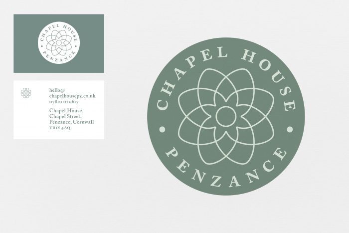 The Chapel House logo and business card.
