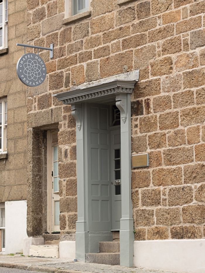 The entrance to Chapel House, Penzance.