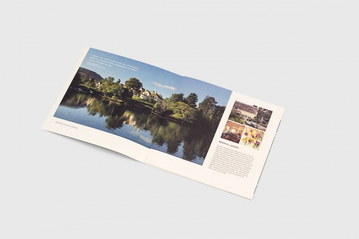 A double spread on the Sheen Falls Lodge brochure.